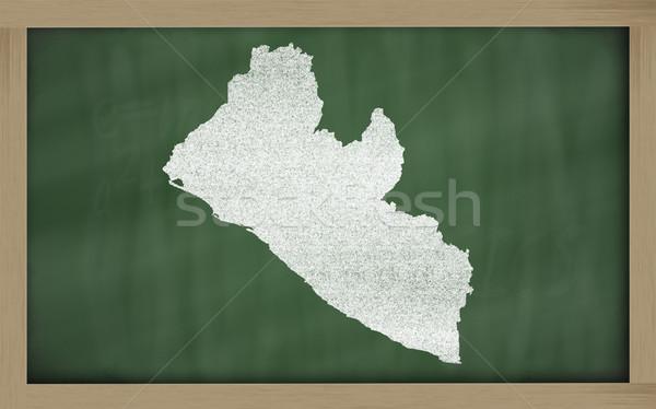 outline map of liberia on blackboard  Stock photo © vepar5