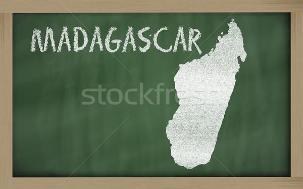Carte Madagascar tableau noir dessin Photo stock © vepar5
