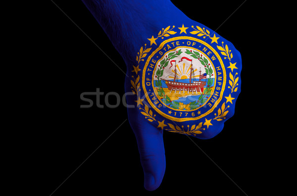 new hampshire us state flag thumbs down gesture for failure made Stock photo © vepar5