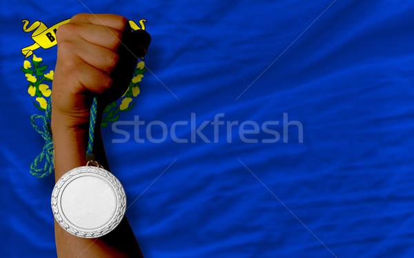 Argent médaille sport pavillon Nevada Photo stock © vepar5