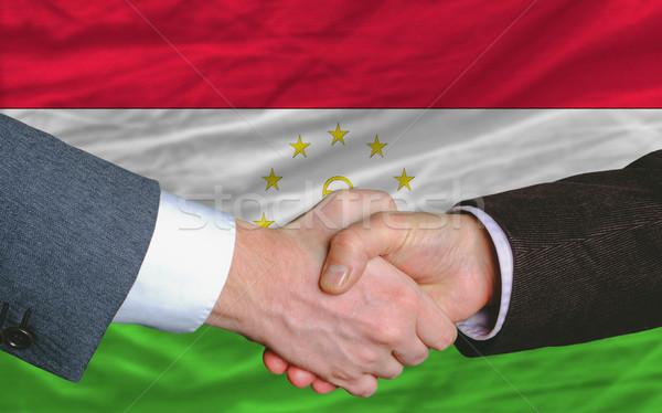бизнесменов рукопожатие хорошие дело Таджикистан два Сток-фото © vepar5