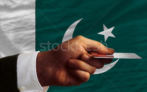 Satın alma kredi kartı Pakistan adam dışarı Stok fotoğraf © vepar5