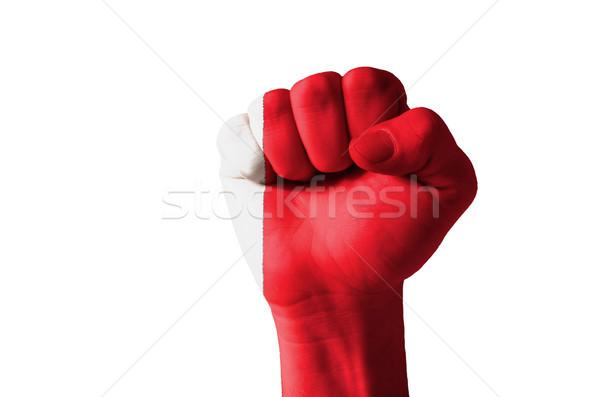 Puno pintado colores Bahréin bandera bajo Foto stock © vepar5