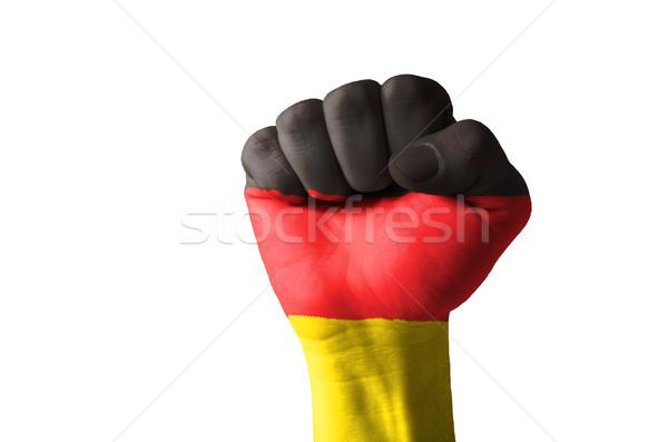 Pięść malowany kolory Niemcy banderą niski Zdjęcia stock © vepar5