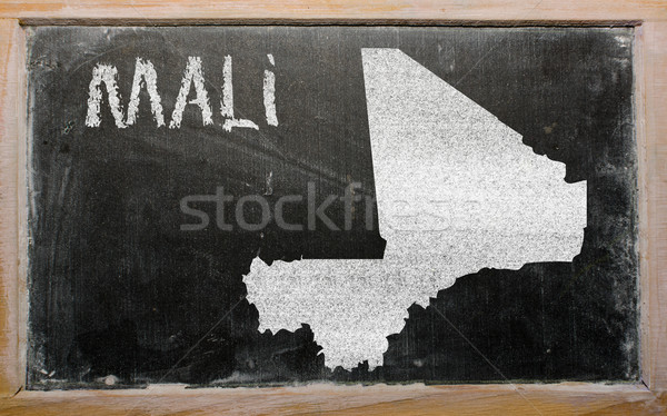 outline map of mali on blackboard  Stock photo © vepar5