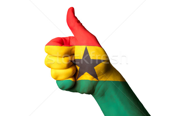 Гана флаг большой палец руки вверх жест превосходство Сток-фото © vepar5