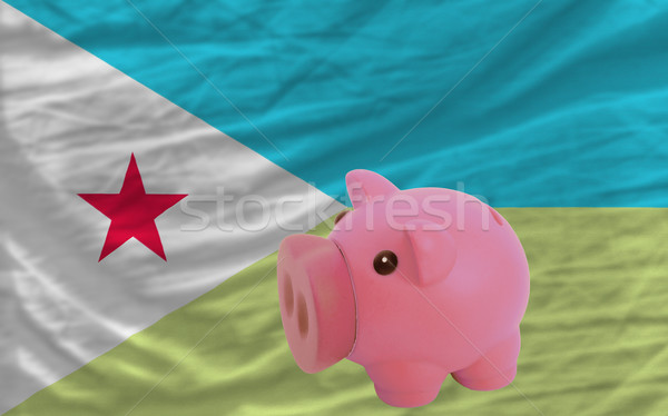 piggy rich bank and  national flag of  of djibuti    Stock photo © vepar5