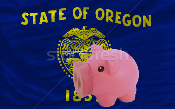 Rico banco bandeira americano Oregon Foto stock © vepar5