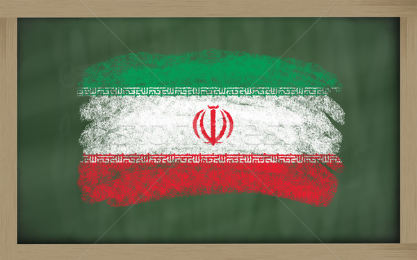 national flag of iran on blackboard painted with chalk Stock photo © vepar5