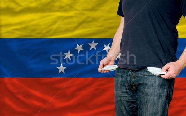 Recessie jonge man samenleving Venezuela arme man Stockfoto © vepar5