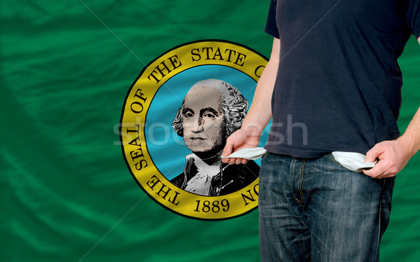 recession impact on young man and society in american state of w Stock photo © vepar5