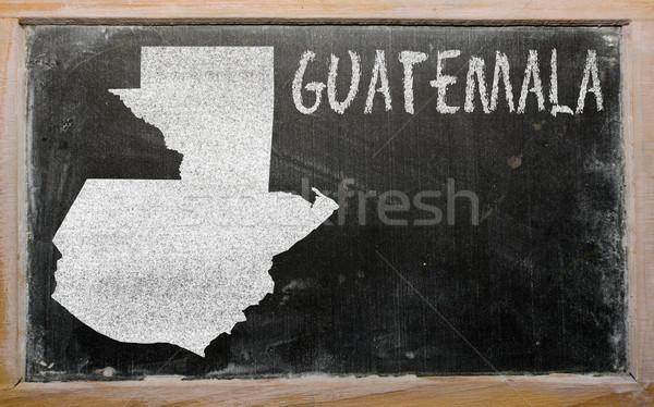 outline map of guatemala on blackboard  Stock photo © vepar5