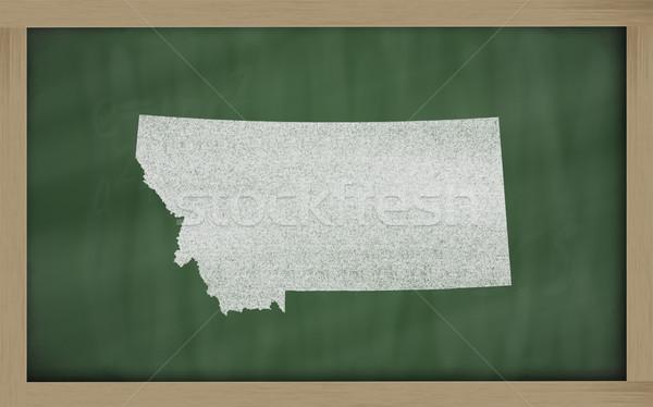 Contorno mappa Montana lavagna disegno lavagna Foto d'archivio © vepar5