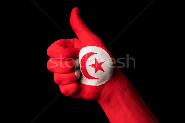 Túnez bandera pulgar hasta gesto excelencia Foto stock © vepar5