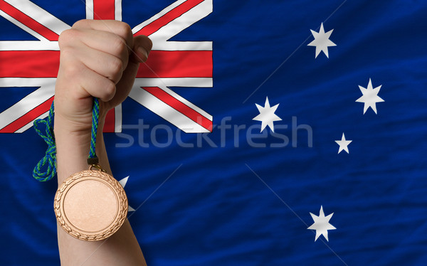 Bronze medal for sport and  national flag of australia    Stock photo © vepar5