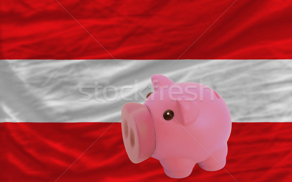 piggy rich bank and  national flag of austria    Stock photo © vepar5