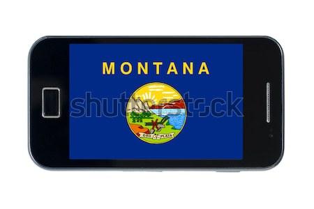 Bandeira americano Vermont telefone viajar Foto stock © vepar5