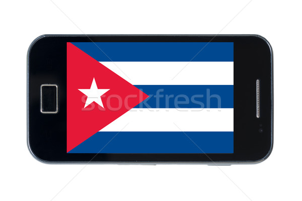 smartphone national flag of cuba    Stock photo © vepar5