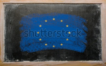 flag of US state of alaska on blackboard painted with chalk Stock photo © vepar5