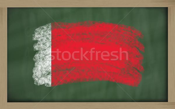 Bandeira Bahrein lousa pintado giz cor Foto stock © vepar5