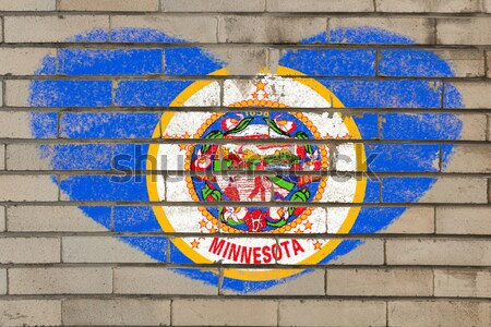 flag of US state of minnesota on grunge wooden texture precise p Stock photo © vepar5