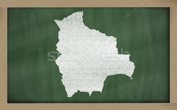 Skicc térkép Bolívia iskolatábla rajz rajzolt Stock fotó © vepar5