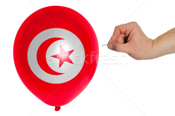 Balão bandeira Tunísia pop política Foto stock © vepar5