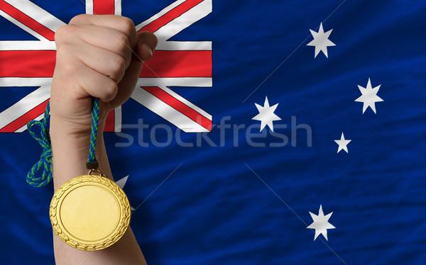 金メダル スポーツ フラグ オーストラリア 勝者 ストックフォト © vepar5