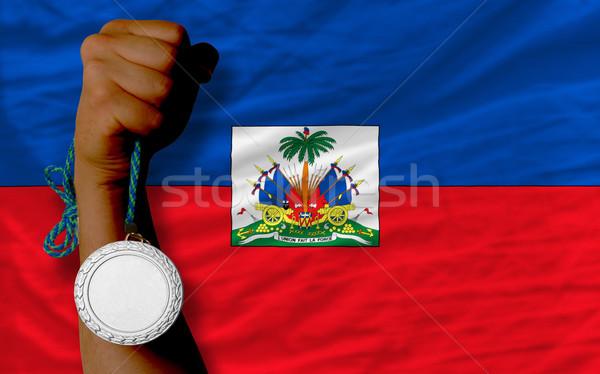 銀 金メダル スポーツ フラグ ハイチ ストックフォト © vepar5