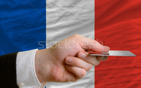 buying with credit card in france Stock photo © vepar5
