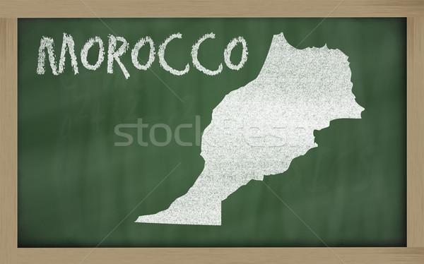 Skicc térkép Marokkó iskolatábla rajz rajzolt Stock fotó © vepar5