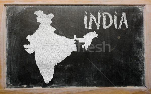 Mapa India pizarra dibujo Foto stock © vepar5