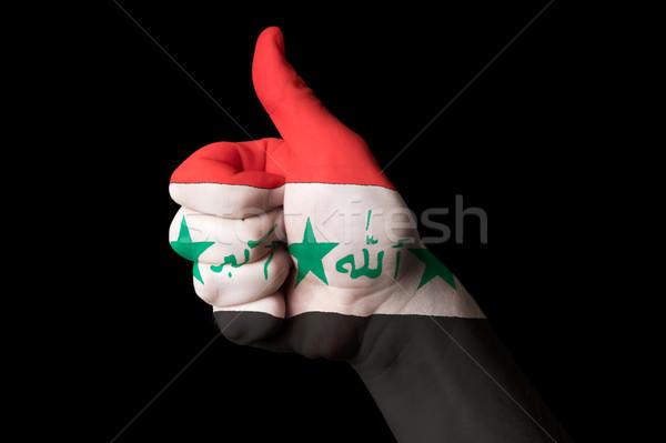 Iraque bandeira polegar para cima gesto excelência Foto stock © vepar5
