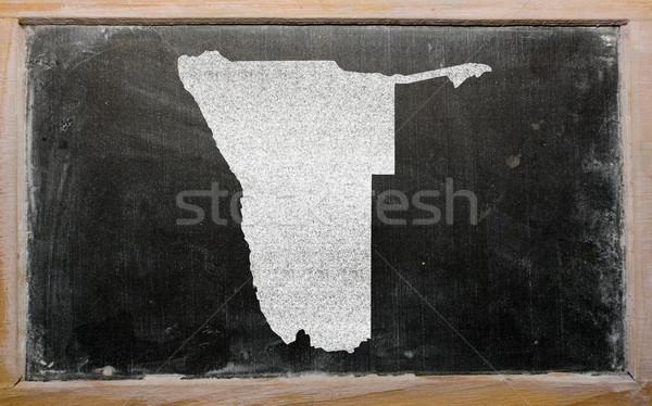 outline map of namibia on blackboard  Stock photo © vepar5