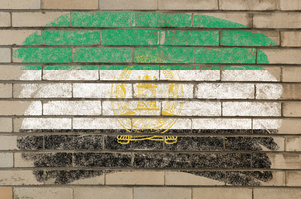 flag of  afghanistan on grunge brick wall painted with chalk   Stock photo © vepar5