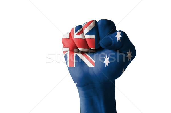 Puno pintado colores Australia bandera bajo Foto stock © vepar5