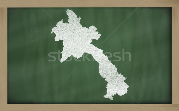 outline map of laos on blackboard  Stock photo © vepar5