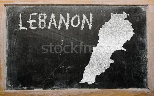 карта Ливан доске рисунок Сток-фото © vepar5