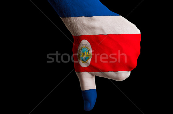 costarica national flag thumbs down gesture for failure made wit Stock photo © vepar5