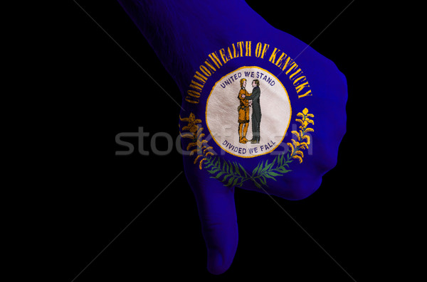 kentucky us state flag thumbs down gesture for failure made with Stock photo © vepar5