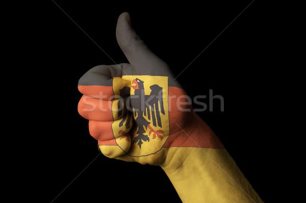 Alemanha bandeira polegar para cima gesto excelência Foto stock © vepar5