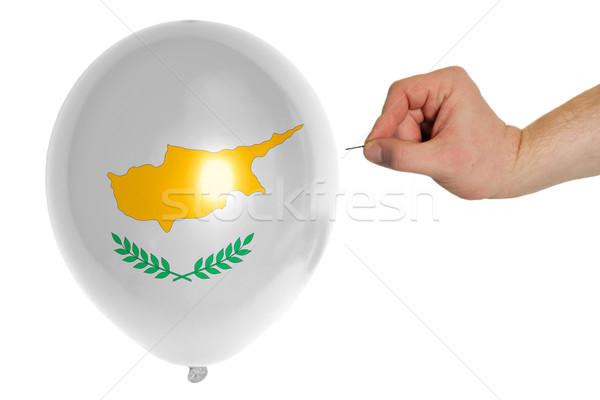 Léggömb színes zászló Ciprus ötlet politika Stock fotó © vepar5