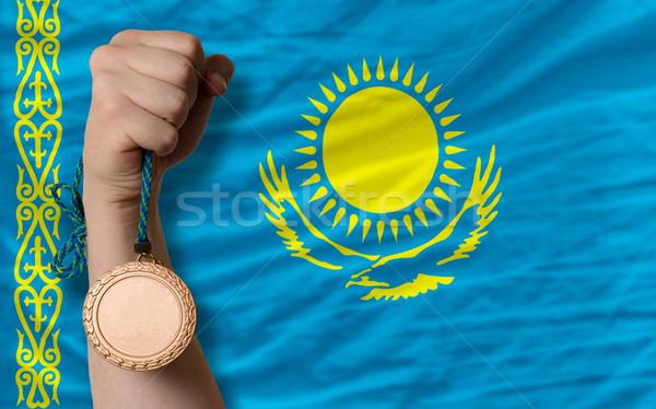 бронзовый медаль спорт флаг Казахстан Сток-фото © vepar5