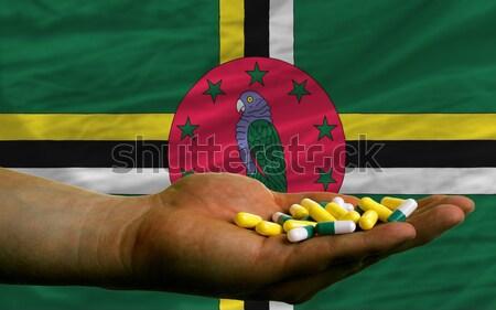 Mobiele telefoon vlag Dominica man Stockfoto © vepar5