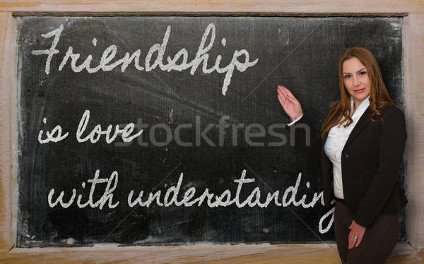 Maestro amistad amor exitoso hermosa Foto stock © vepar5