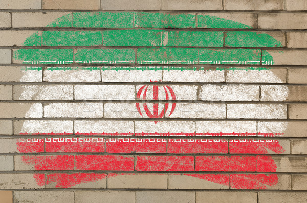 flag of iran on grunge brick wall painted with chalk   Stock photo © vepar5