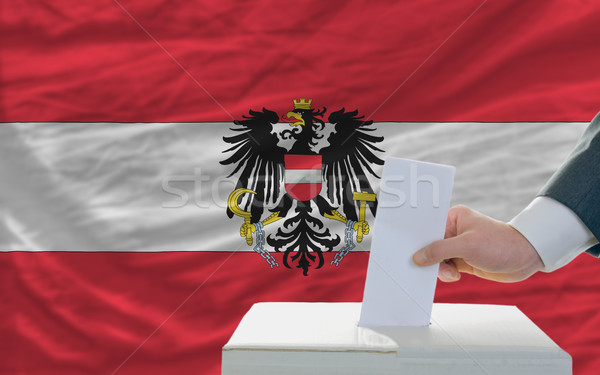 Adam seçimler Avusturya oylama kutu Stok fotoğraf © vepar5