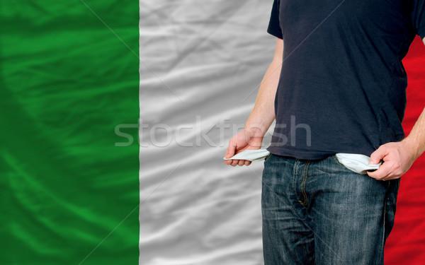 Recesión joven sociedad Italia pobres hombre Foto stock © vepar5
