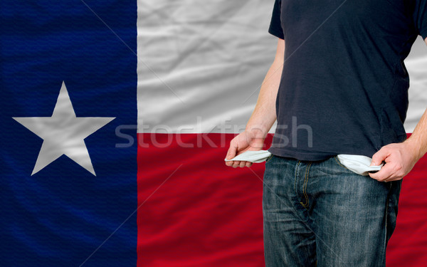 Stockfoto: Recessie · jonge · man · samenleving · amerikaanse · arme · man