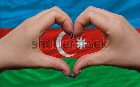 Coração amor gesto mãos bandeira Tunísia Foto stock © vepar5